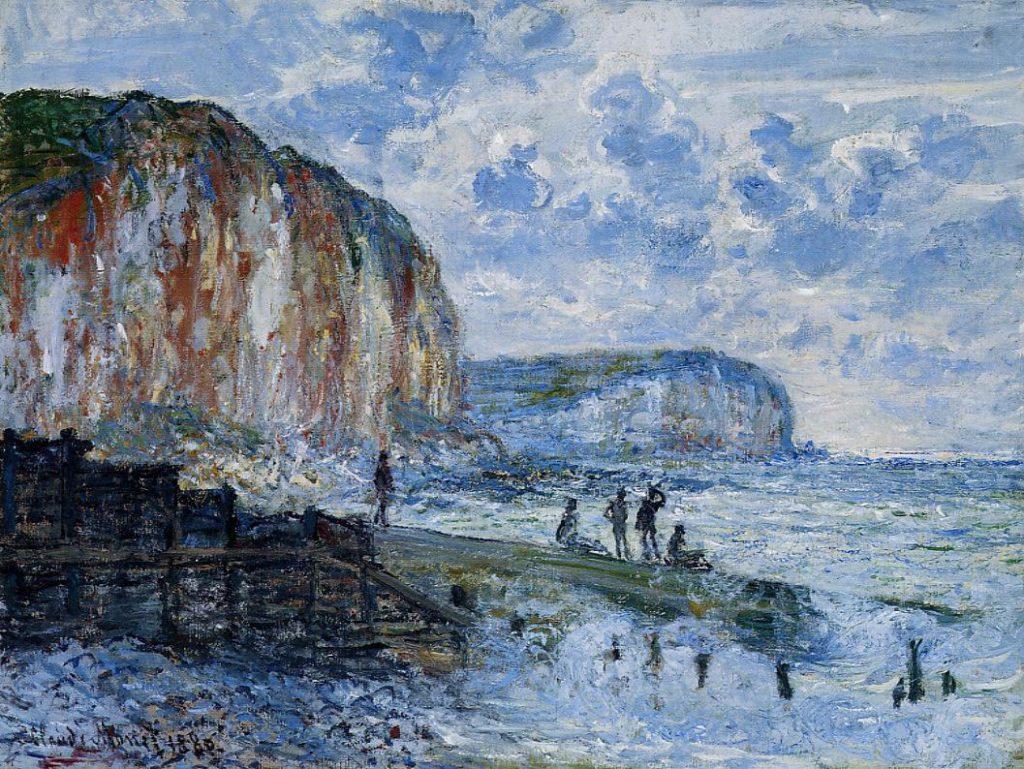 Claude Monet, 7IE-1882-73, Falaises des petites dalles. Option 1 of 2: CR621, 1880, The Cliffs of Les Petites-Dalles, 59x75, MFA Boston (iR51;iR2;R22,no621;R90II,p205+221;R2,p395+384)