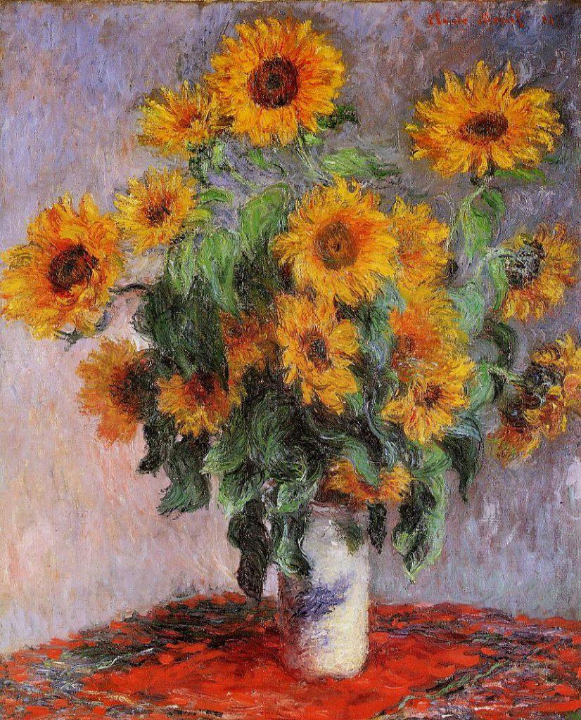 Claude Monet, 7IE-1882-78, Bouquet de soleils. Now: CR628, 1880, Bouquet of Sunflowers, 101x82, Metropolitan (iR51;R22,no628;R90II,p206+222;R2,p395+405)