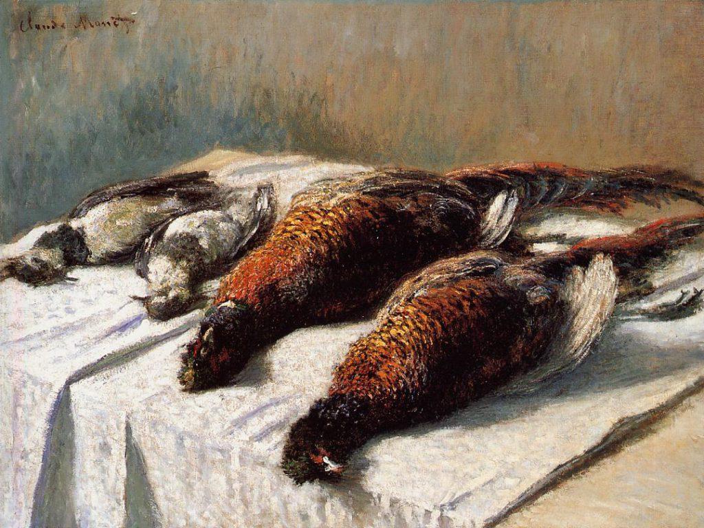 Claude Monet, 7IE-1882-82, Gibiers, nature morte. Option 1 of 2: CR550, 1879, Pheasants and Lapwings, 68x90, Minneapolis IA (iR2;iR8;R22,no550;R90II,p206+222;R2,p395+381)