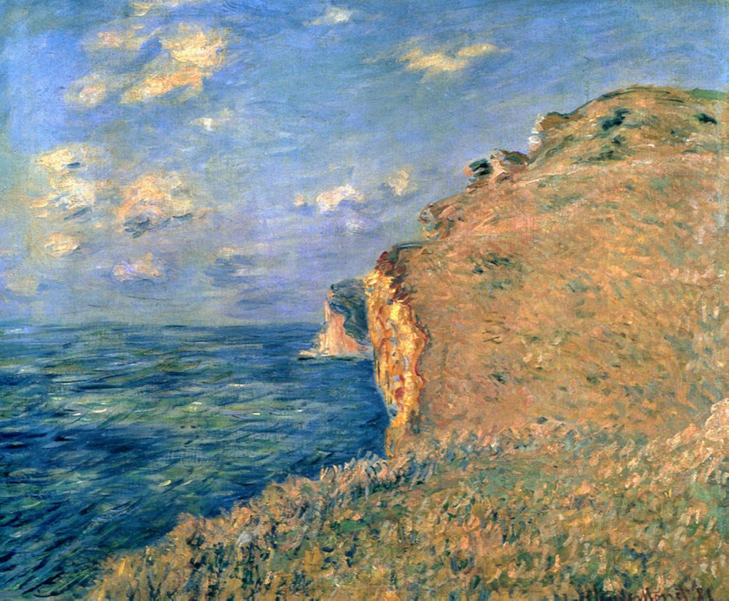Claude Monet, 7IE-1882-87, du haut des falaises à Fécamp. Perhaps: CR656, 1881, The Cliff at Fécamp, 64x80, Aberdeen AGM (iR51;iR2;R22,no656;R2,p394)