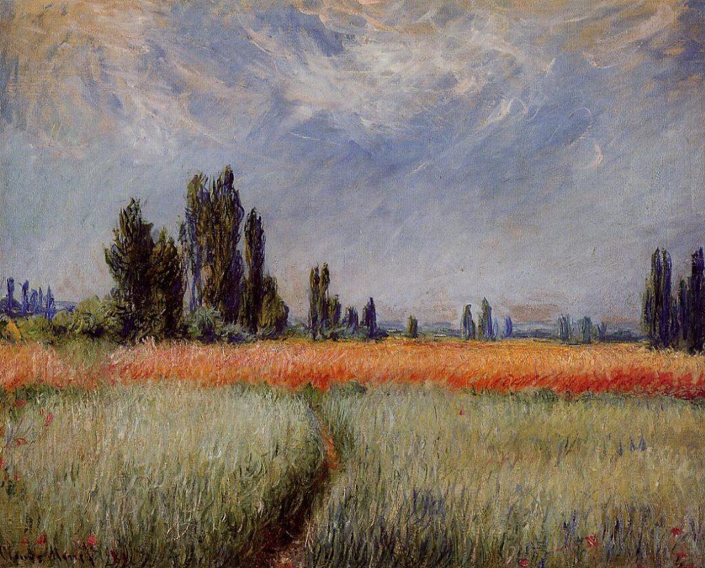 Claude Monet, 7IE-1882-88, Sentier dans les blés. Pershaps: CR676, 1881, Field of Corn, 66x82, Cleveland MA (iR2;iR51;R22,no676;R90II,p207+223;R2,p395;M27)