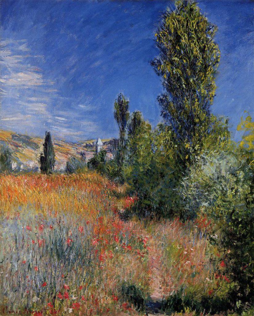 Claude Monet, 7IE-1882-90, Paysage d'été, île St-Martin. Perhaps: CR679, 1881, landscape in Ile Saint-Martin, 73x60cm, private (iR51;iR2;R22,no679;R90II,p207+224;R2,p395)