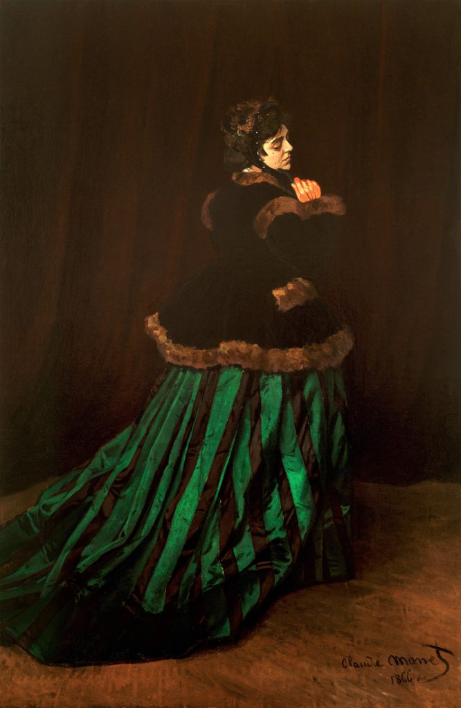 Claude Monet, S1866-1386, Camille. Now: 1866, CR65, Camille (the woman with a green dress), 231x151, Kh Bremen (iR2;R22,no65;M58)