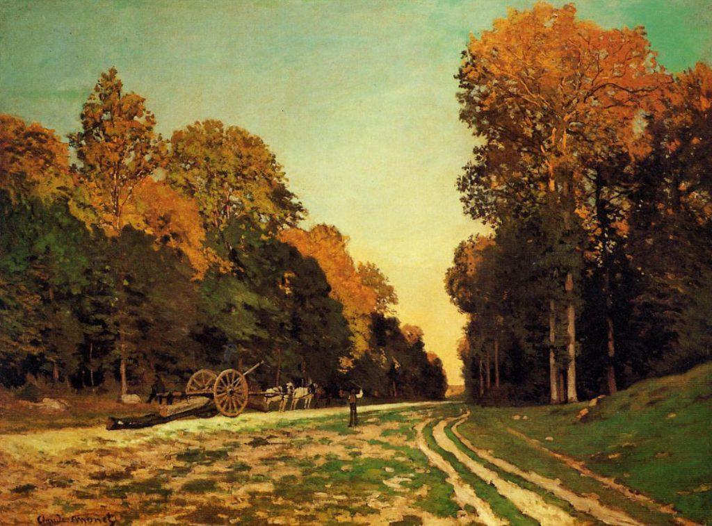 Claude Monet, S1866-1387 Forêt de Fontainebleau. Now: CR19, 1864, Le pavé de Chailly, 98x130cm, private Switzerland (iR2;iR1;R22,no19). Also: DRNY-1886-183.