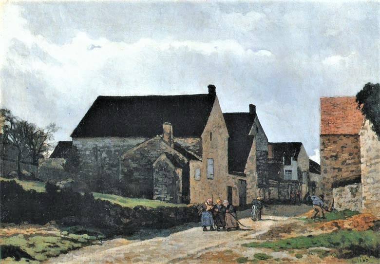 Alfred Sisley, S1866-1785, Femmes allant au bois, paysage. Now: 1866, CR4, Street of Marlotte(Women Going to the Woods), 65x92, BMA Tokyo (iR2;iR1;M125;R166,no5;R129,no4)