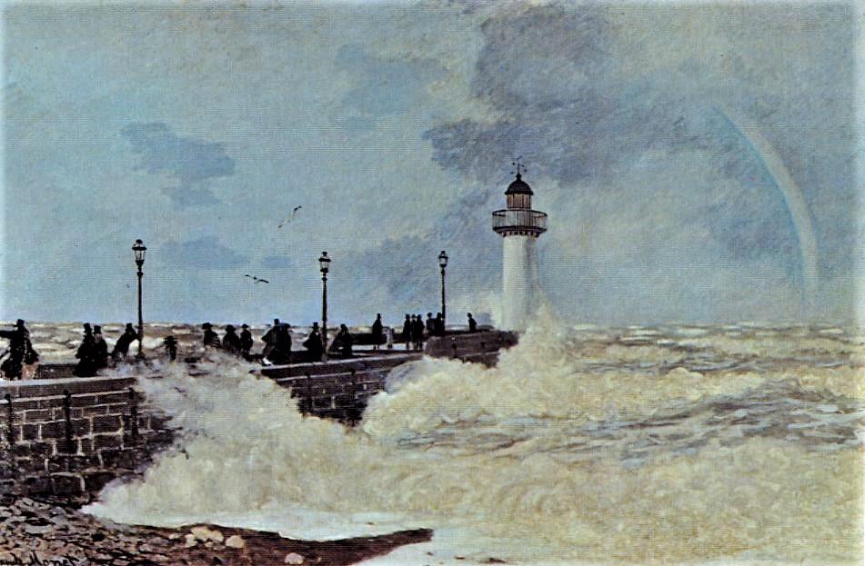 Claude Monet, S1868-Refusé. Now: CR109, 1868, La Jetée du Havre (The Jetty at Le Havre), 147x226, private (iRx;R22,no109)