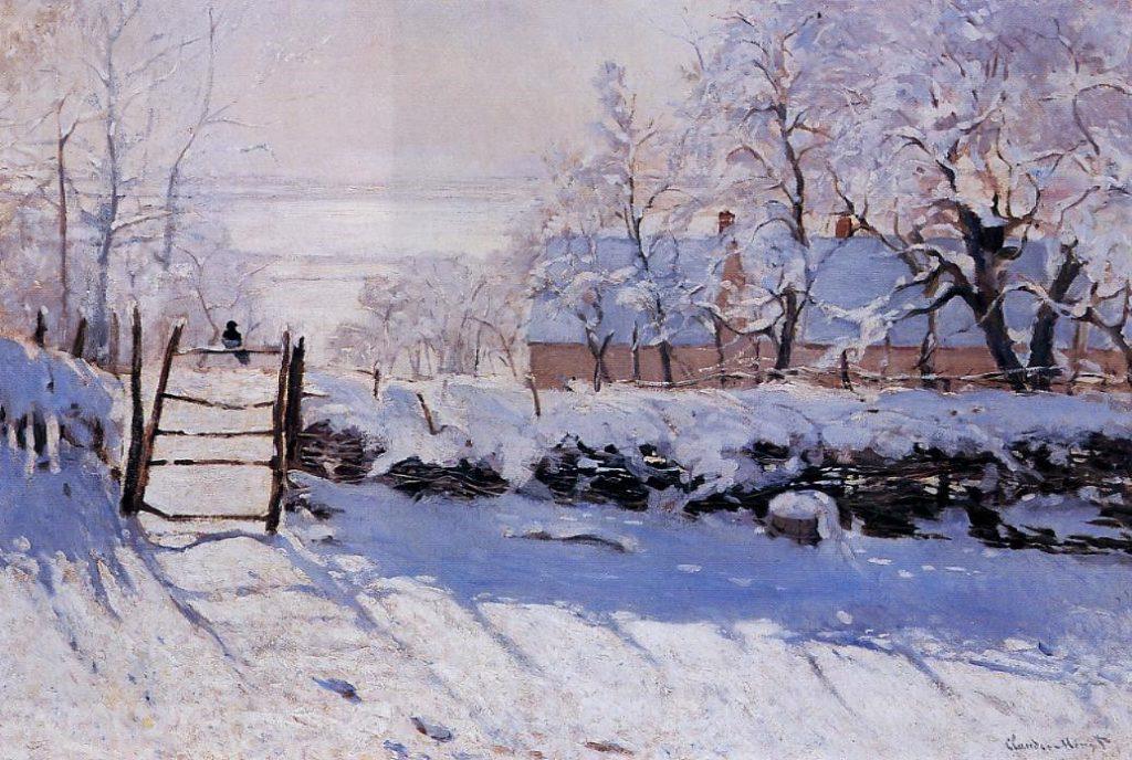 Claude Monet, S1869-R2. Now: 1869, CR133, The Magpie, 89x130, Orsay (iR2;R22,no133;M1)