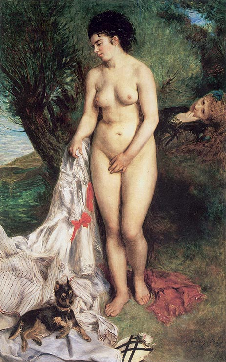 August Renoir, S1870-2405, Baigneuse. Now: 1870, CR54, The bather with the griffin, 184x115. MdA São-Paulo (iR7;R31,no15;R30,no50)