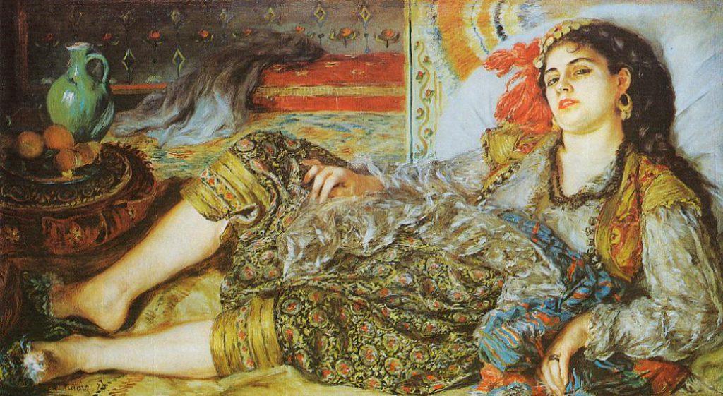 August Renoir, S1870-2406, Femme d'Alger. Now: 1870, Odalisque(The Algerian Woman), 69x123, NGA Washington (R31,p194;R30,no.52;M21)