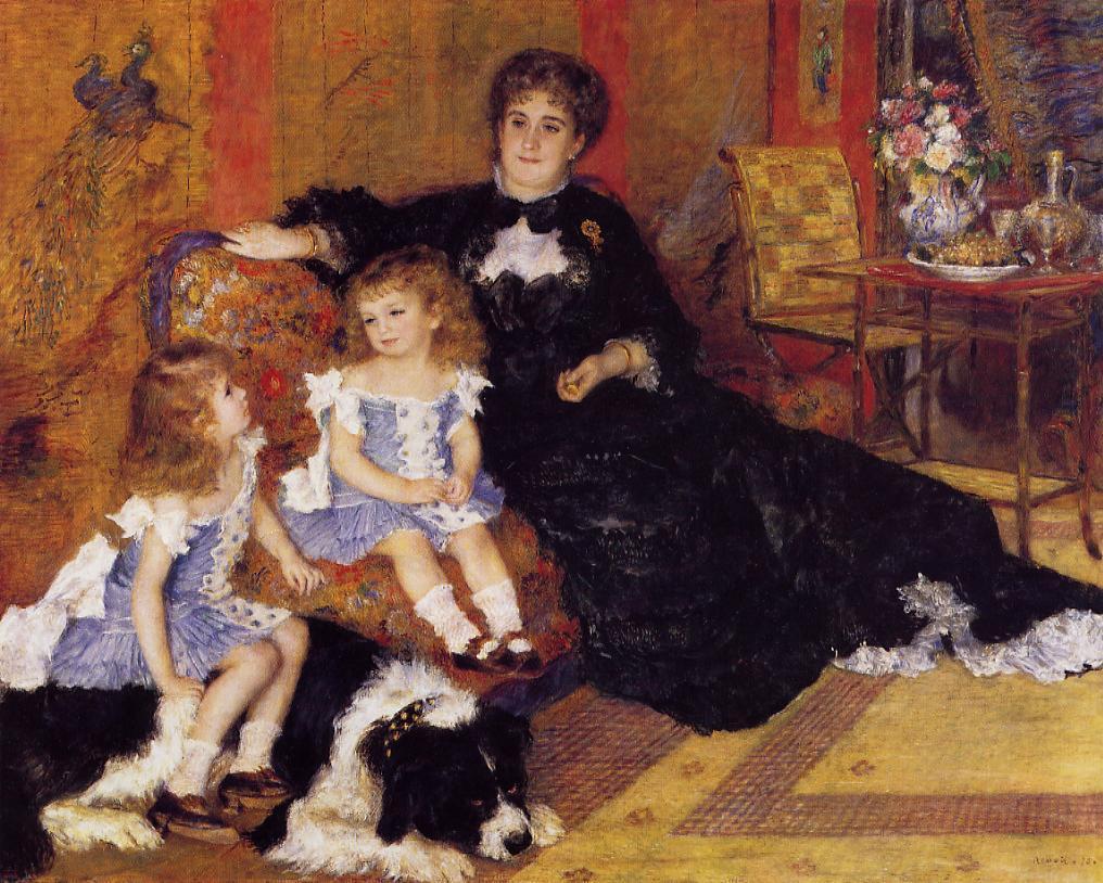Renoir, S1879-2527, portrait de Mme G.C... et ses enfants. Now: 1878 Madame Georges Charpentier and her children, 154x190, Metropolitan (iRx;R1,p420)