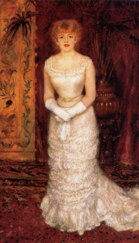 August Renoir, S1879-2528, portrait de Mlle Jeanne Samary. Now: 1878, Portrait de Mlle Jeanne Samary, 174x101, Hermitage (iRx;R30,no320;M95)