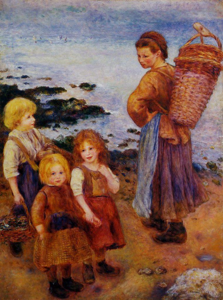 August Renoir, SdAF-1880-3195, pêcheurs de moules à Berneval. Now: 1879, Mussel Fishers at Berneval (near Wargemont), 175x130, Barnes (iRx;R30,no383;M25)