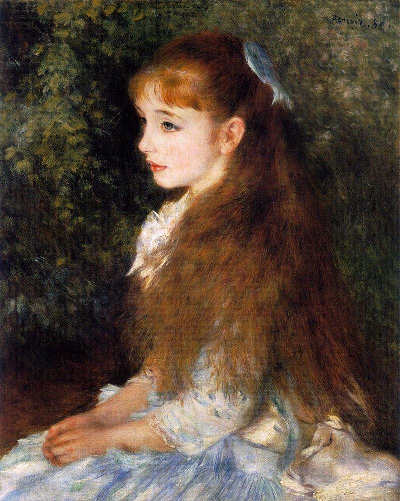 August Renoir, SdAF-1881-1986, portrait de Mlle xxx. Maybe??: 1880, Mlle. Irene Cahen d'Anvers, 65x54, Bührle Zurich (iR6;R30,no428;M85)