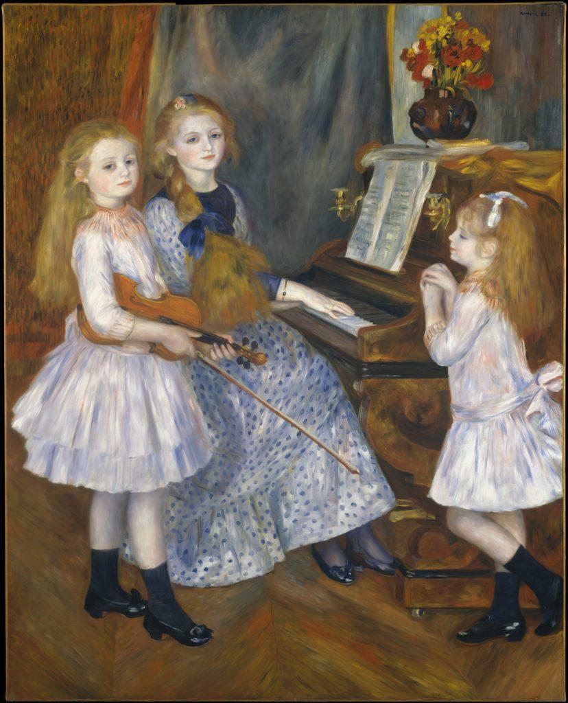 August Renoir, SdAF-1890-2024, portraits de Mlles M... Now: 1888, The daughters of Catulle Mendes, 161x129, Metropolitan (iR52;R30,no634;M23)