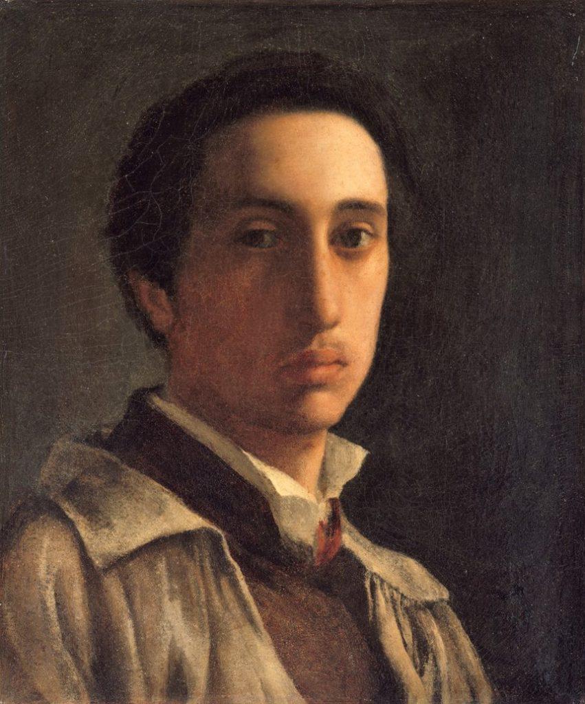 Degas, 1856ca, CR12, self-portrait, 39x33, Metropolitan.