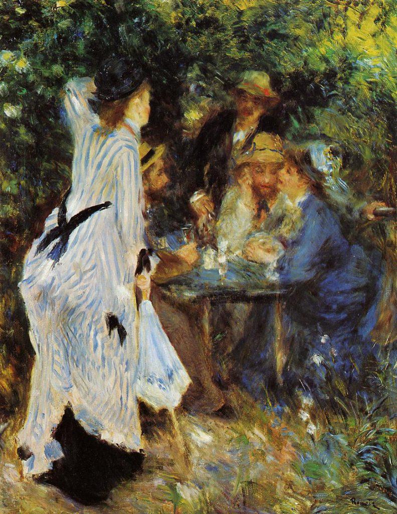 August Renoir, 1876ca, Under the Arbor at the Moulin de la Galette, 81x65, Pushkin (iRx;M96)