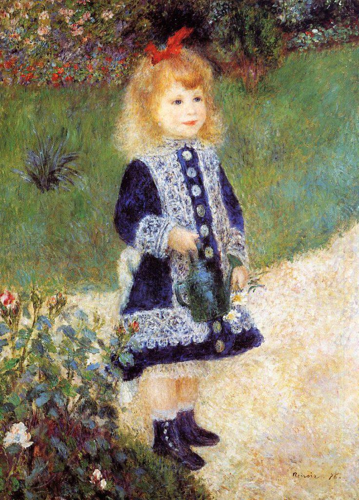 Renoir: 2IE-1876-215, portrait d'Enfant (app. à M. Choquet). Compare: 1876, Girl with a Watering Can, 100x73, NGA Washington (iRx;R30,no228)