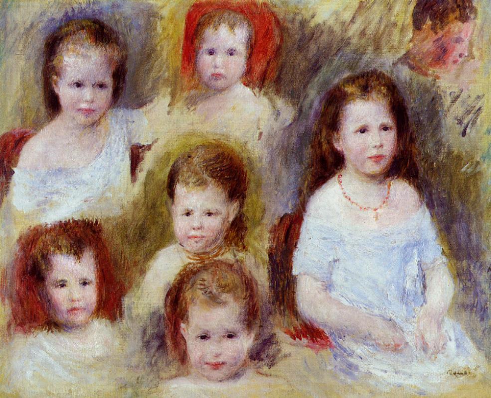 Renoir, 2IE-1876-216, Tête d'enfant (app. à M. Choquet). Maybe: 1876ca, Portraits of Marie-Sophie Chocquet, 36x45, private (iRx;R30,no214)