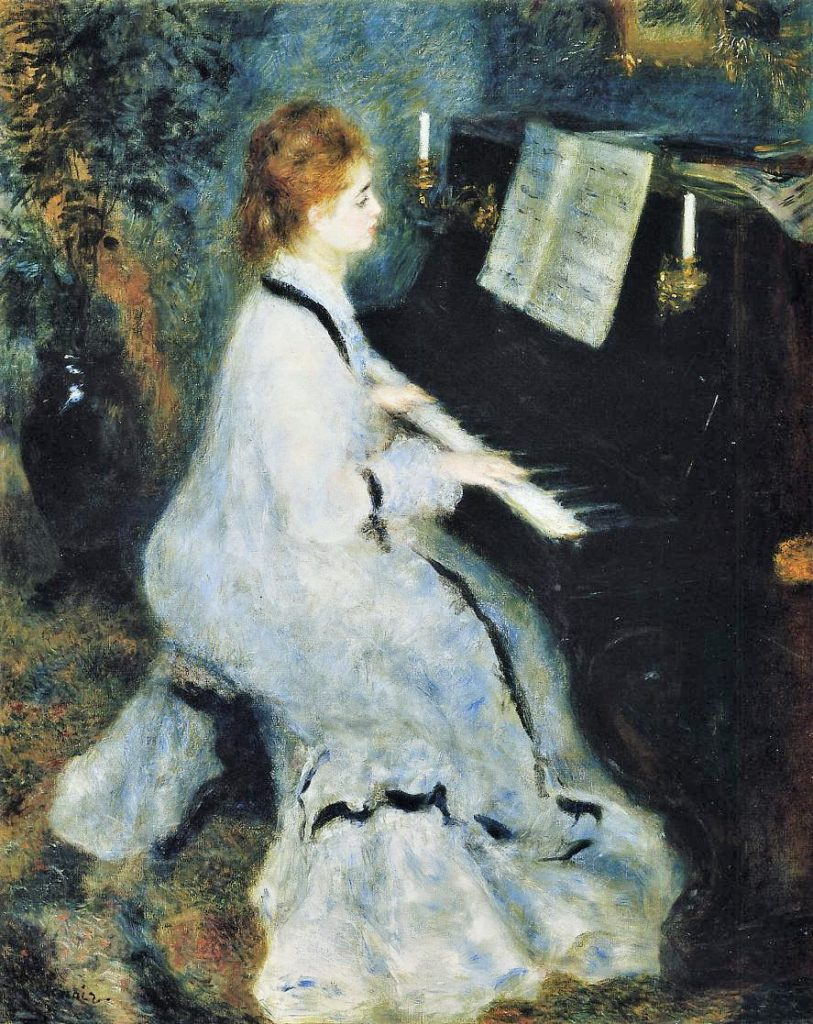 Renoir, 2IE-1876-219 femme au piano (app. à M. Poupin).Now: 1876, CR219, Young Woman at the Piano, 93x74, AI Chicago (iR2;R90II,p44;R30,no232)