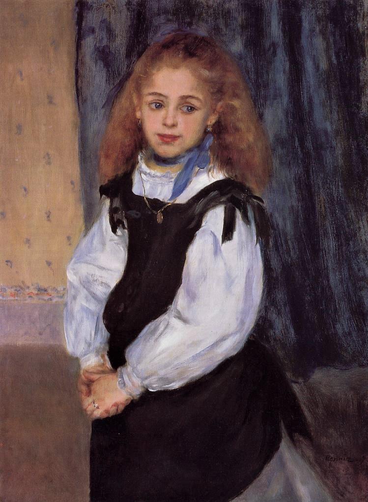 Renoir, 2IE-1876-223 portrait de jeune fille (app. à M. Legrand). Now: 1875, Mademoiselle Legrand, 81x60, Mcllhenny Philadelphia (iR2;R90II,p64;R3o,no184;R31,p197)