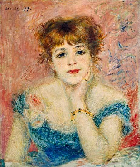 Renoir, 3IE-1877-191, portrait de Mademoiselle S. Now: CR229, 1877, portrait d'actrice Jeanne Samary, 56x47, Pushkin (R90II,p101;R30,no282;R31,p197)