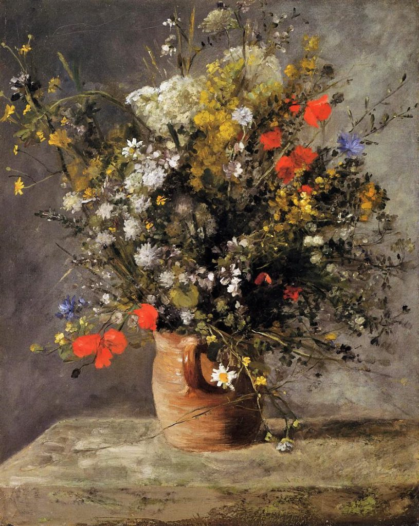 Renoir, 3IE-1877-201, bouquet de fleurs de champs. Maybe??: 1866ca, Flowers in a Vase, 81x65, NGA Washington (iR2)