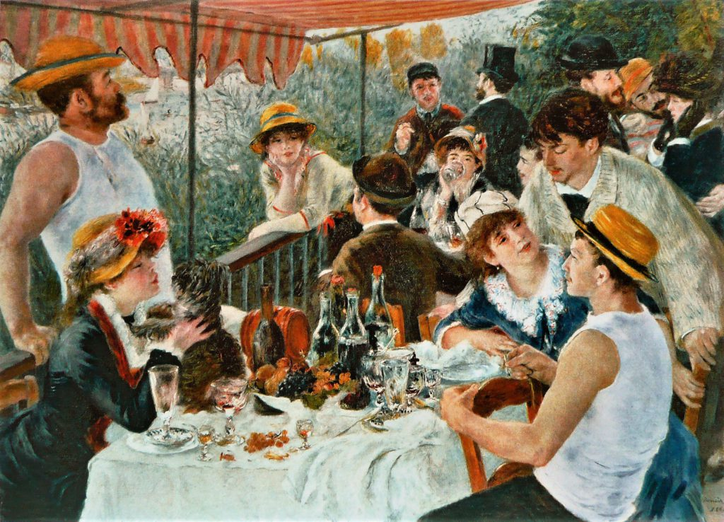 Renoir, 7IE-1882-140, un déjeuner à Bougival. Now: CR379, 1880-81, the luncheon on the boating party, 129x172, Phillips Washington (iR3;iR2;iR8;iR22;iR52;R90II,p229;R2,p412;R30,no468;R31,no52)