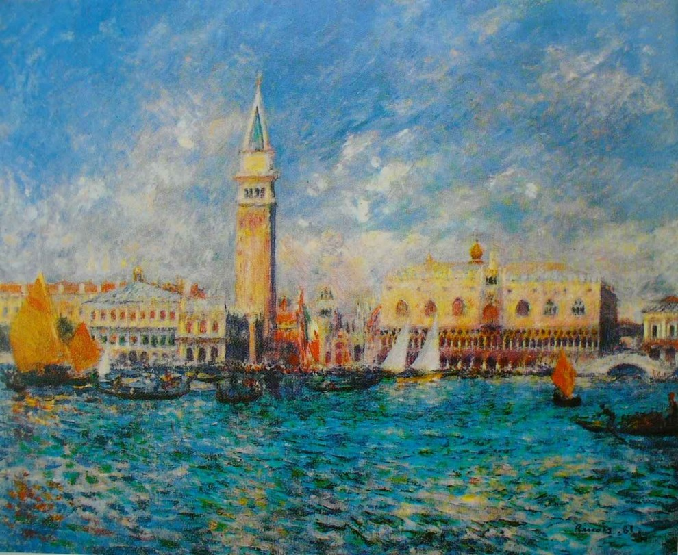 Renoir, 7IE-1882-147, Vue de Venice. Probably: 1881, Le palais des Doges, 55x65, CAI Williamstown (iR2;iR59;R30,no483)