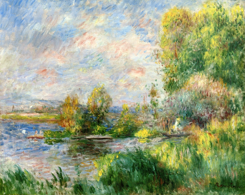 Renoir, 7IE-1882-152, Les bords de la Seine. Maybe??: 1879-81, The Seine at Bougival, 32x41, private (iRx;R30,no469)