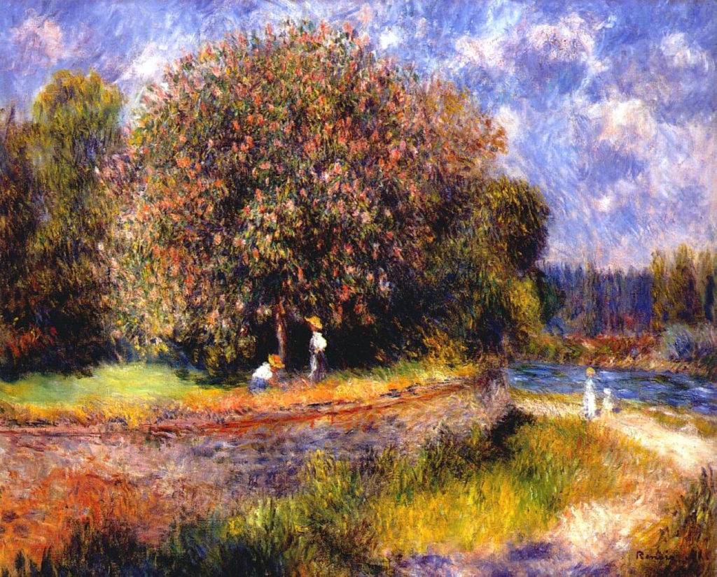 Renoir, 7IE-1882-155, Marroniers en fleurs = 1881, Chestnut tree blooming, 71x89, private (iR52;R30,no474;R90II,p231)