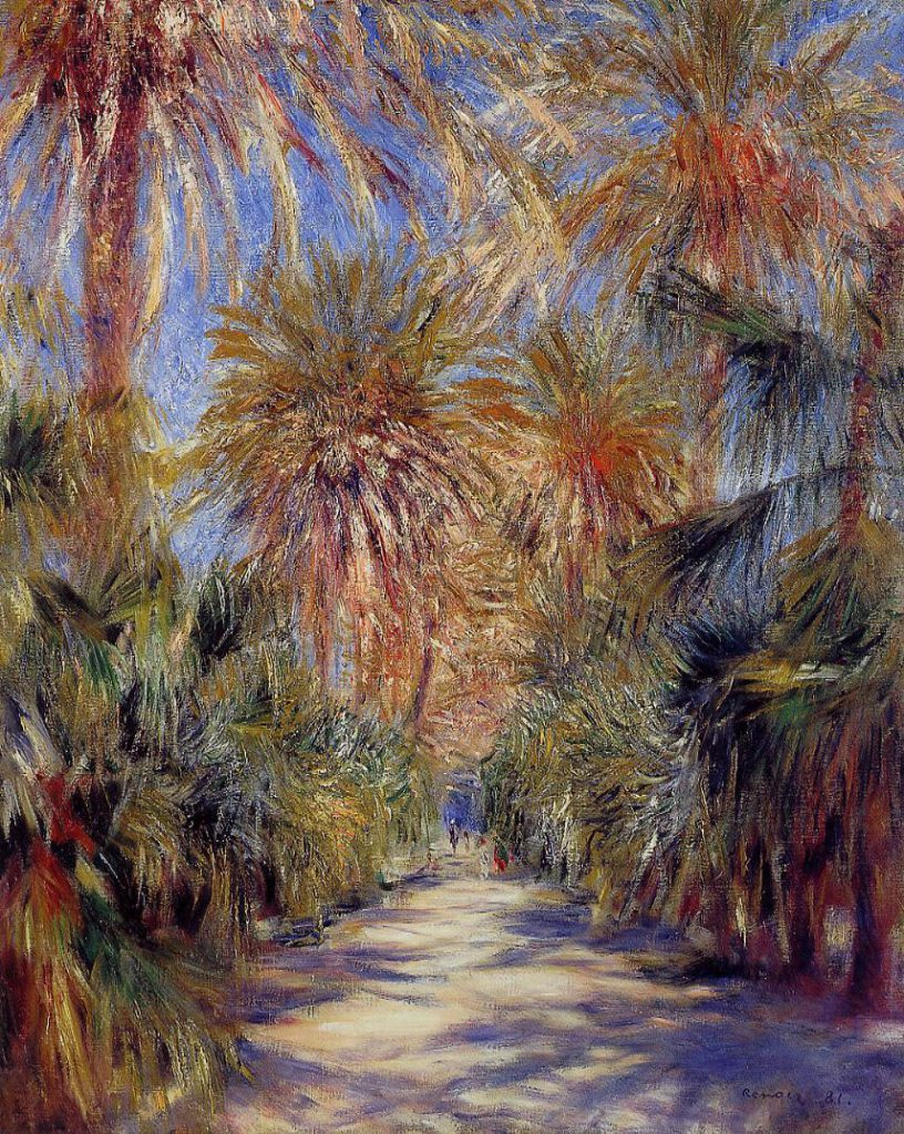 Renoir, 7IE-1882-157 Jardin Desaix a Alger =1881-82 The Jardin d'Essai in Algiers, 81x65, private Paris (iRx;R30,no514;R90II,p232)