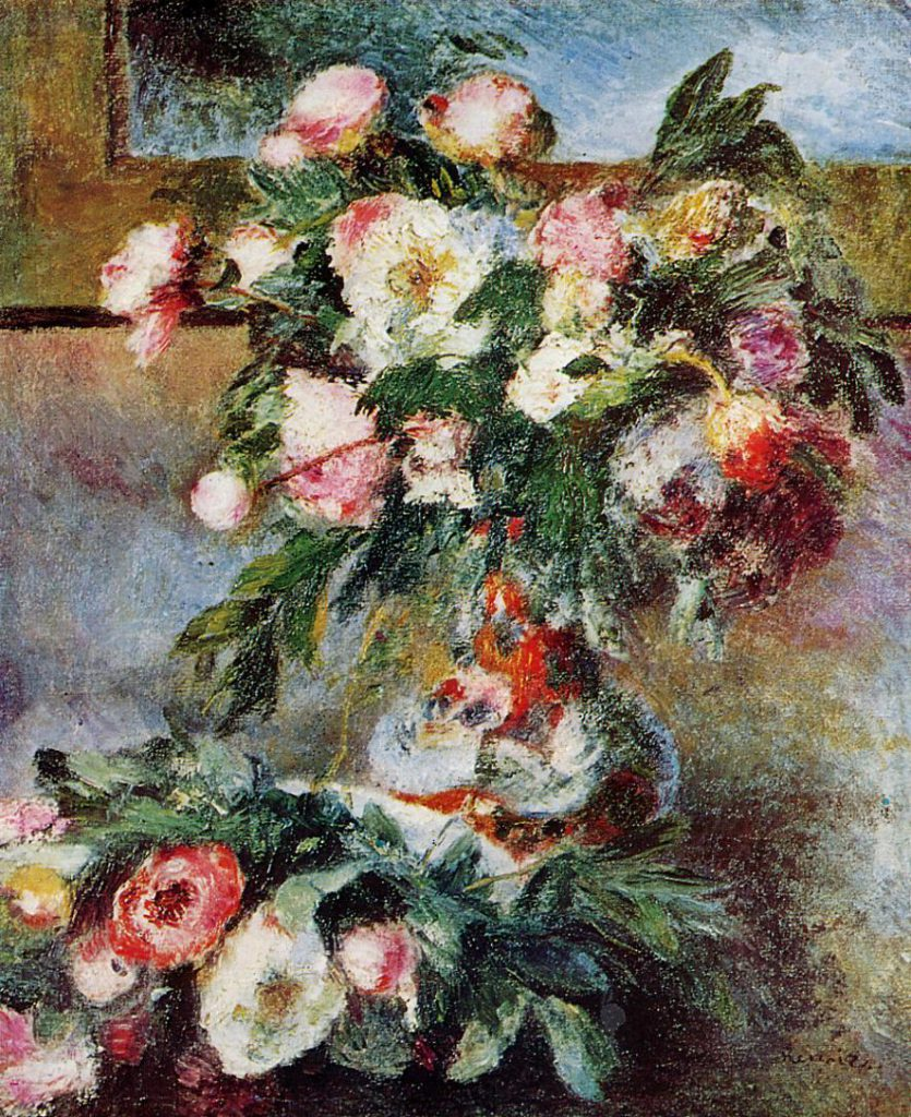 Renoir, 7IE-1882-158 pivoines. Maybe??: 1876-78, Peonies, xx, private (iRx;R30,no268)