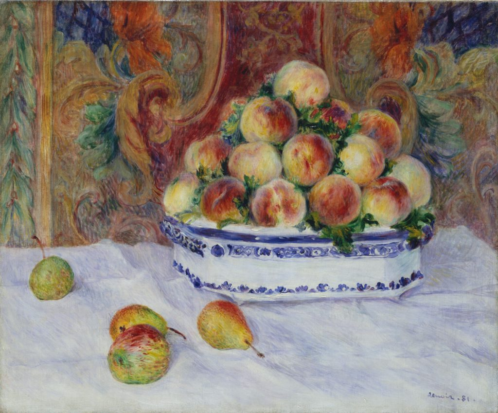 Renoir, 7IE-1882-159, Les pêches =1881, Still Life with Peaches, 53x64, Metropolitan (iR52;iR59;R90II,p232)