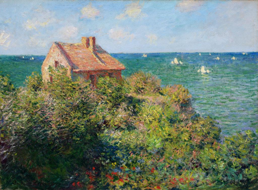 Claude Monet, 1882, CR805, Fishermans Cottage at Varengeville, 61x88, MFA Boston