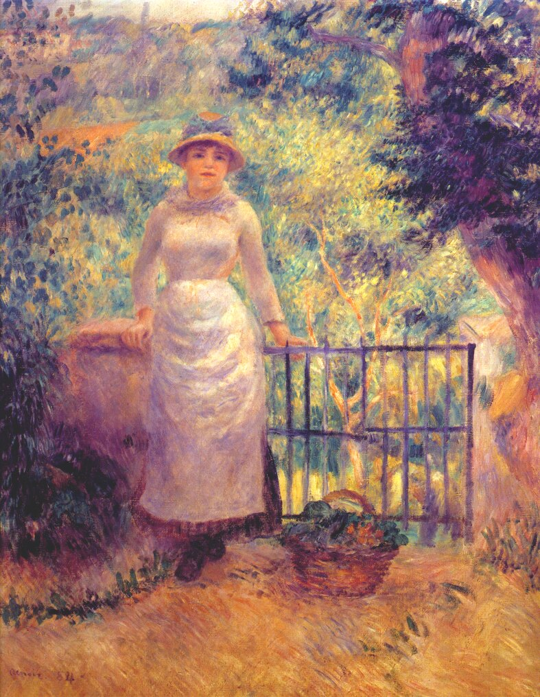 Renoir, 1884, Aline at the gate (Mme Renoir in the garden), 82x66, private (iR52;R30,no600)