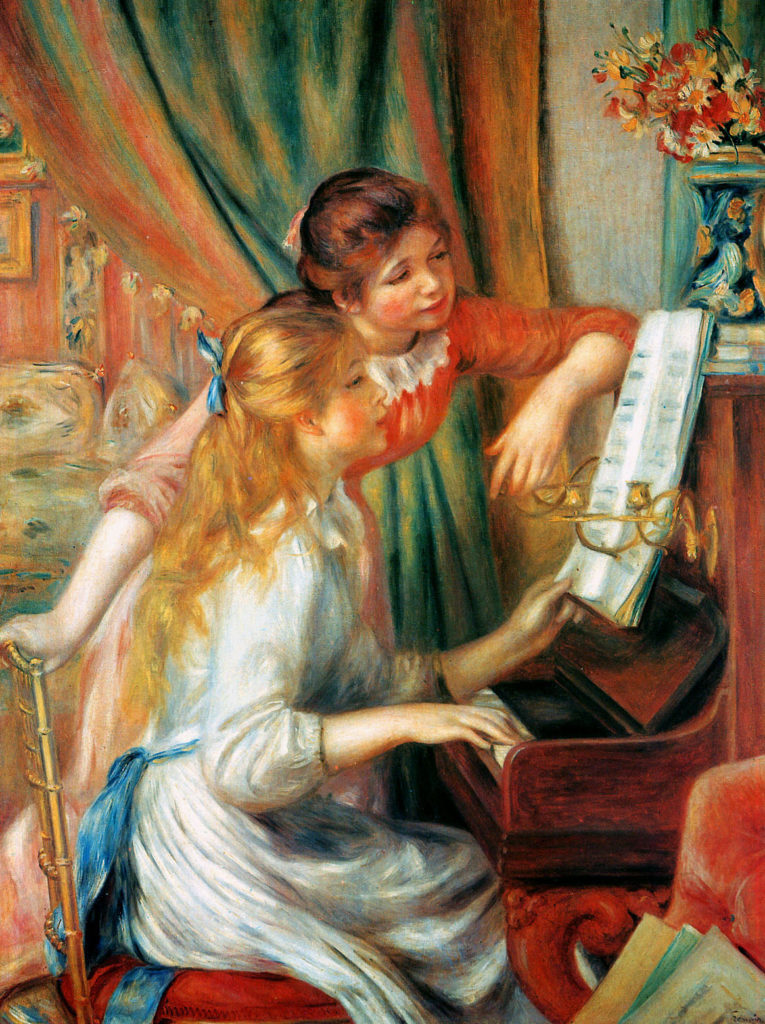 Renoir, 1892, Girls at the Piano, 116x90, Orsay (iR52;R30,no662;R31,no91) Bought by the State for 4000fr.