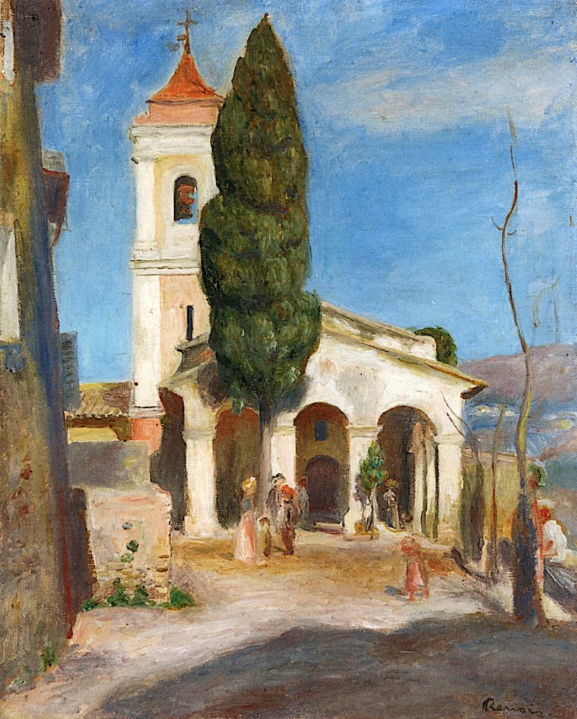 Renoir, 1905, Chapel of Our Lady of Protection, Cagnes, 41x33, private (iR2)
