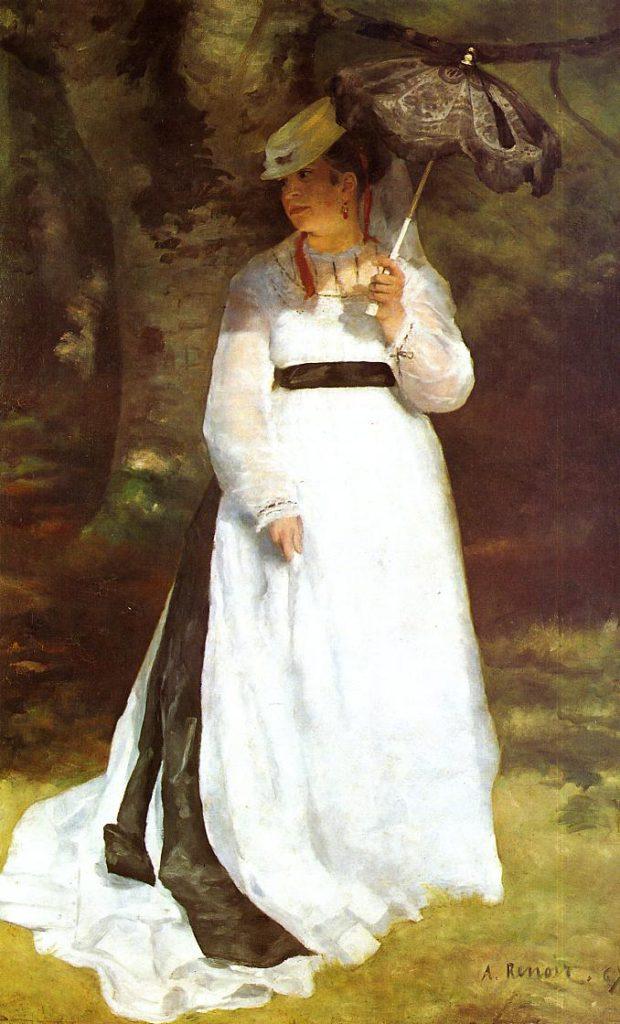 Renoir, S1868-2113, Lise. Now: 1867, CR22, Portrait of Lise with Umbrella, 184x115, MF Essen (R31,p181;R30,no22)