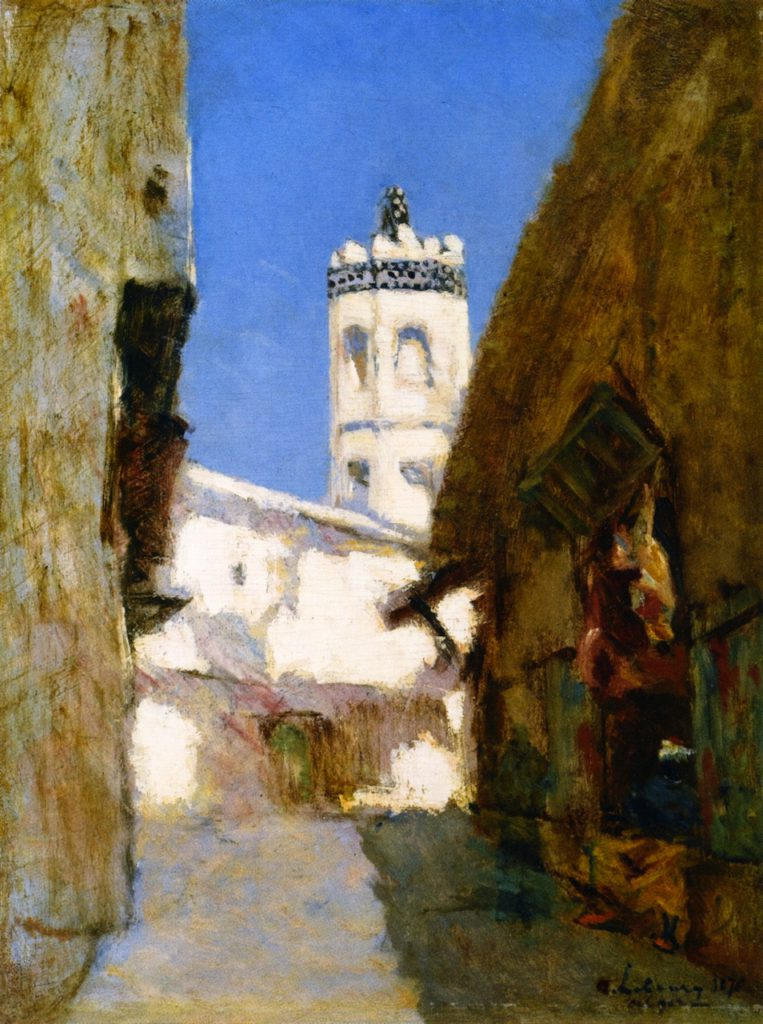 Albert Lebourg, 4IE-1879-110, Une rue à Alger. Uncertain: 1876, The Rue des Blondeurs in Algiers, 47x36, private