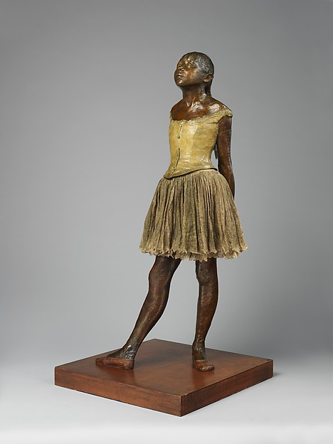 Edgar Degas, 6IE-1881-12, Petite danseuse de quatorze ans. Compare: 1881ca, the little fourteen year old dancer, bronze mixed techniques, 98x44, Metropolitan