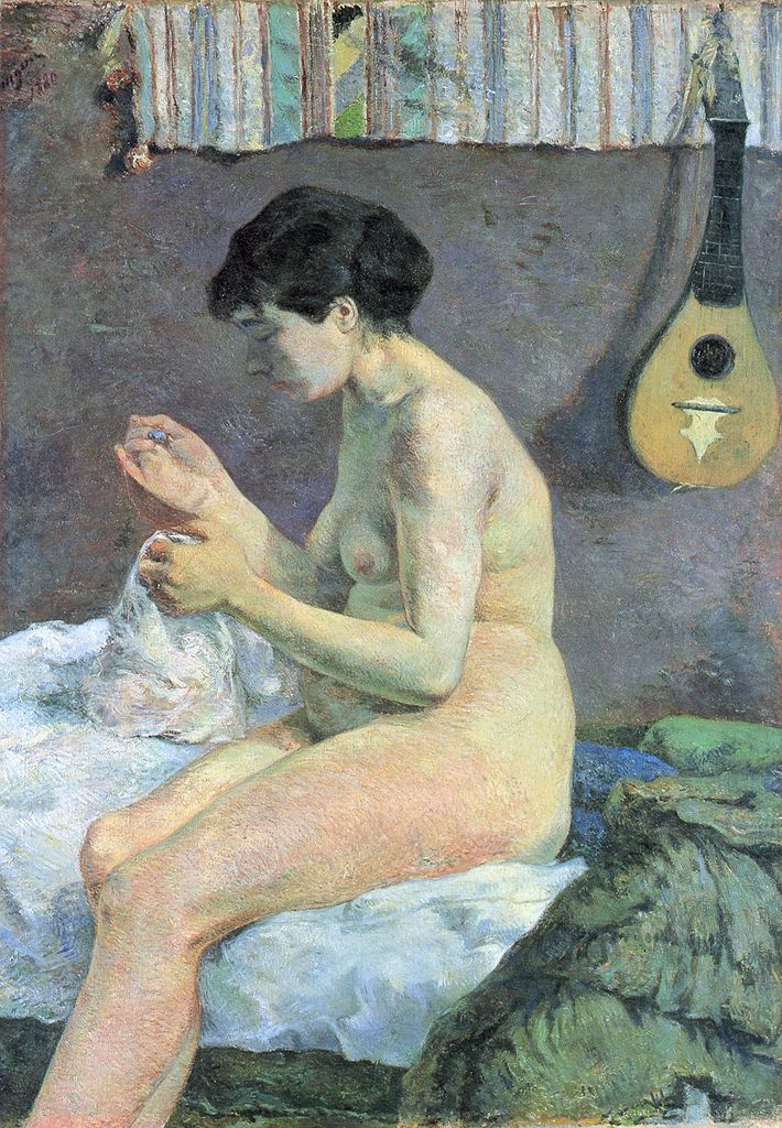 Paul Gauguin, 6IE-1881-36, Étude de nude. Now: CR39, 1880, Study of a Nude, Suzanne Sewing, 115x80, NCG Copenhagen
