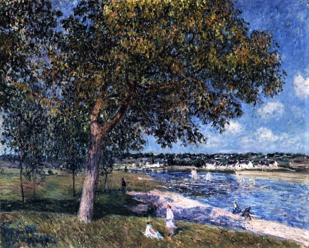 Alfred Sisley, 1880, CR397, Walnut Tree in a Thomery Field, 58x72, A2012 (iR2;iR14). Compare: 7IE-1882-175, Un noyer à Veneux.