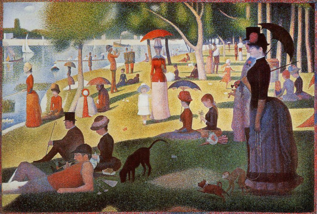 Georges Seurat, 8IE-1886-175, Un dimanche à la Grande-Jatte. Now: 1884-86, CR175, A Sunday Afternoon 206x306, AI Chicago