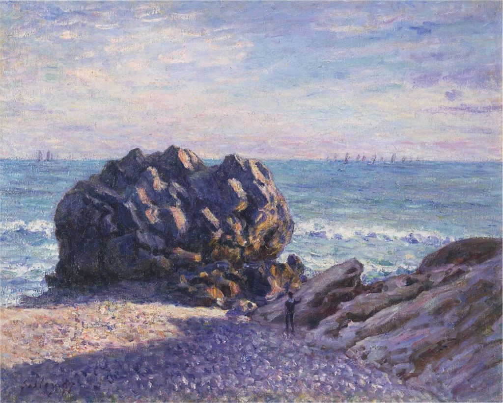 Alfred Sisley, 1897, Storr's Rock in Lady's Cove, Evening, 66x82, AC Cardiff