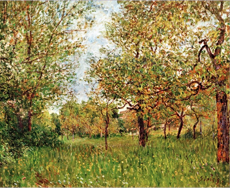 Alfred Sisley, 7IE-1882-173, Les petits prés à By. Perhaps: 1881, CR428, the small meadow at By, 60x73, AMB Rolandseck