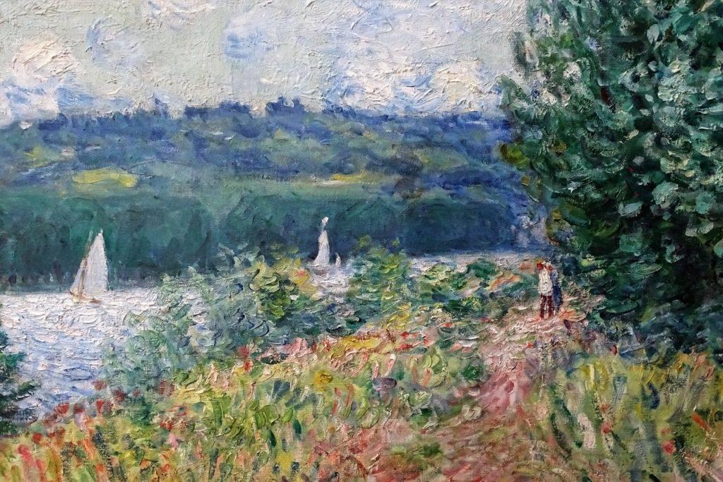 Alfred Sisley, 1894, CR824, La Seine à la Bouille, coup de vent (detail), 81x100, MBA Rouen
