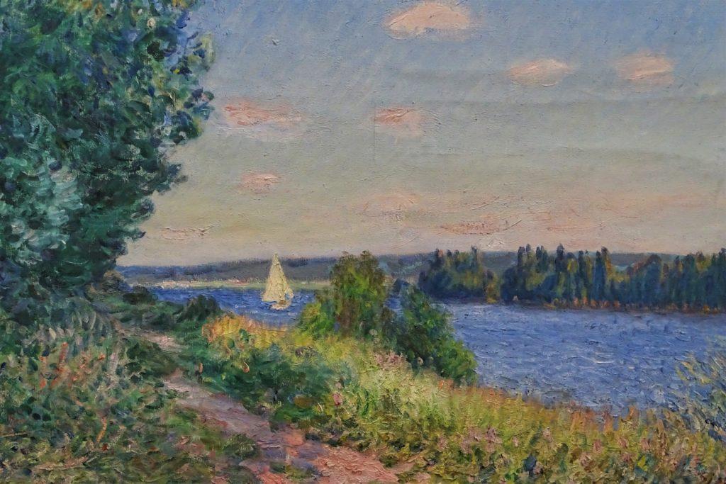 Alfred Sisley, 1894, CR823, Le sentier au bord de l'eau à Sahurs, le soir (detail), 80x100, MBA Rouen