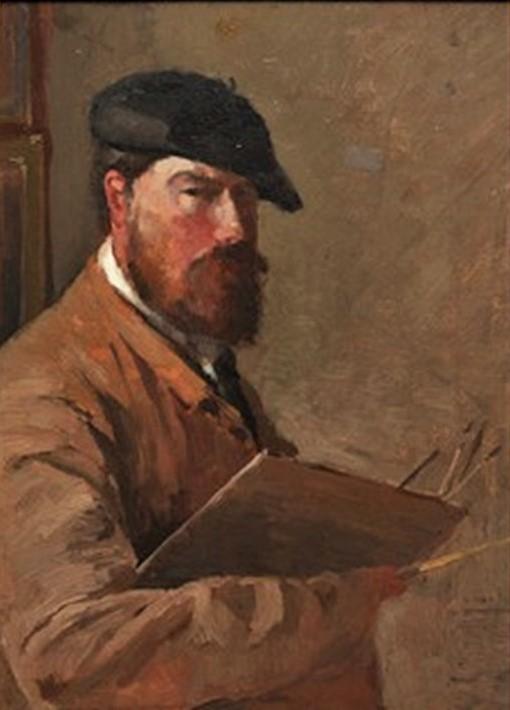 Henri Rouart, 1880-86ca, self-portrait, 32x24, private (aR20;aR28;R92,no2)