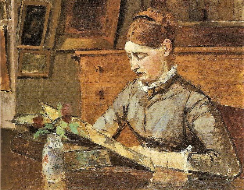 Henri Rouart, 1880-85ca, Hélène reading, rue de Lisbonne, 48x60, private (aR4;R92,no6).