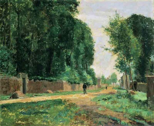 Henri Rouart, 1870-1897ca, A road at La Queue-en-Brie, 60x73, MBA Pau (aR20;aR21;R92,no14;M170). Option for: S1870-2480, Rue de village.